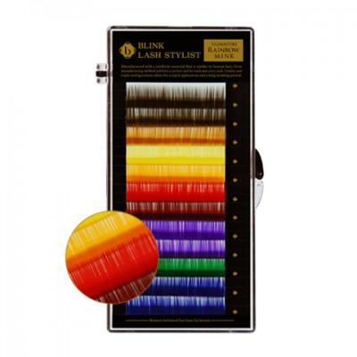 rainbow colour lash